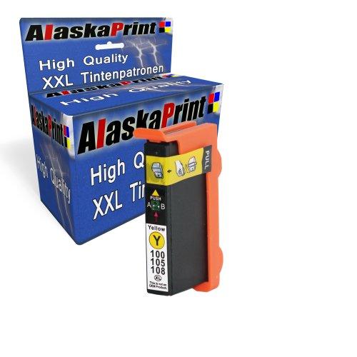 Sparangebot 1x Druckerpatrone Tintenpatrone Ersatz für Lexmark 100 XL (1x Gelb) Ink Cartridge Original Manaserie