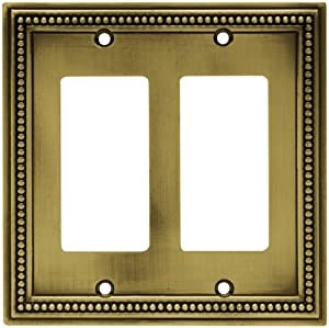 switch plate cover tumbled antique brass brass light switch cover. Black Bedroom Furniture Sets. Home Design Ideas
