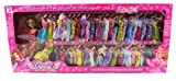 My Beautiful Angel Princess 53 Piece Toy Doll Playset, Comes w/ 50 Different Dress Outfits, Princess Doll, Hairbrush, Mirror