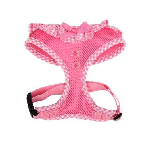 Authentic Puppia Vivien Harness, Pink, Medium