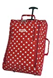 Red Polka Dot Wheeled Holdall Trolley Bag