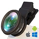 BullyEyes - Phone Camera Lens Attachment : Wide Angle and Macro for iPhone, Samsung, Huawei. For Outdoors Photography and Vlogging: Yoga, Parkour, Skating, Gym Workout, Camp, Travel (Color: Ultra Wide w/Macro)