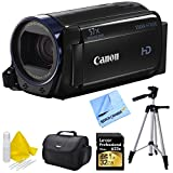 Canon Vixia HF R600 High Definition Camcorder Deluxe Bundle - Black