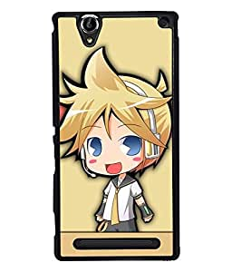 PRINTVISA The Cute Doll Premium Metallic Insert Back Case Cover for Sony Xperia T2 Ultra - D5863
