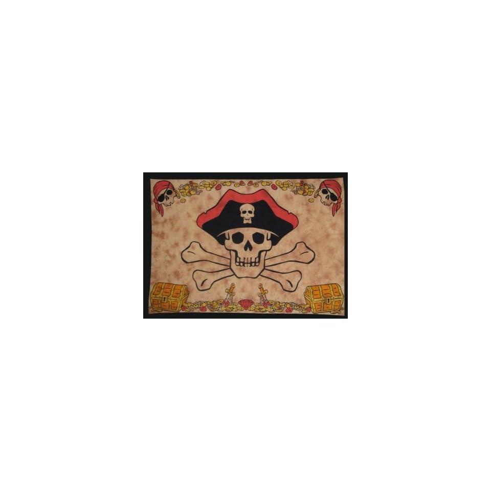 Jolly Roger Pirate Skull & Crossbones Tapestry Dorm Wall Hanging 60x90