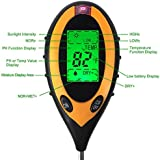 4 In 1 Digital LCD Temperature PH Moisture Sunlight Garden Farm Soil Test Meter