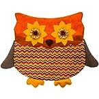 Orange Owl Chair Cover