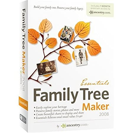 Family Tree Maker 2008 Essentials Bilingual [OLD VERSION]
