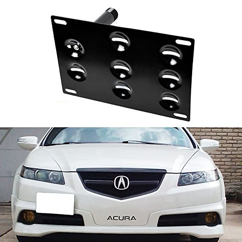 iJDMTOY Front Bumper Tow Hole Adapter License Plate Mounting Bracket For Honda S2000 FIT Acura TL (Acura Tl Tow Hook Plate compare prices)