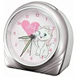 DISNEY(ディズニー) アナログ目覚まし時計 マリー ホワイト DIA-5502-MR