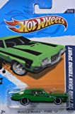 2012 Hot Wheels Muscle Mania - Ford /72 Ford Gran Torino Sport Green #117/247