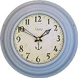 Roger Lascelles ラッセルズ レトロ ブリキ ウォールクロック 掛時計 Quay 英国製