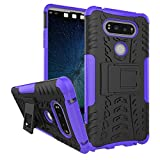 LG V20 Case, Asstar LG V20 Case Cover, Heavy Duty Dual Layers Rugged Hard Back Shell With Kickstand Durable Anti-Slip Protective Case for LG V20 (2016) (Purple)