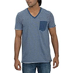 Inego Men's Casual Round Neck T- Shirt (Ink )