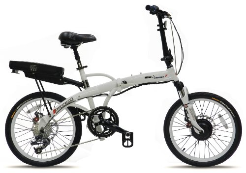 Prodeco V3 Mariner Seven 8 Speed Folding Electric Bicycle, Pure White Gloss, 20-Inch/One Size