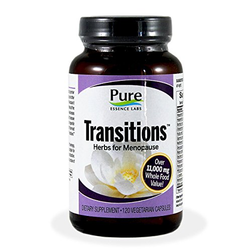 Pure Essence Labs Transitions Herbs for Menopause -- 120 Veg