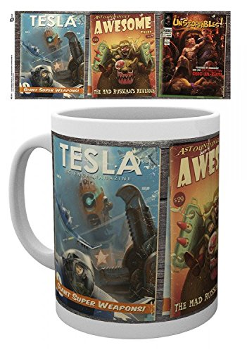 Fallout - 4, Tesla, Awesome, Unstoppable Tazza Da Caffè Mug (9 x 8cm)
