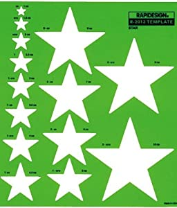 RAPID Metric Star Template Different Size Star Stencil