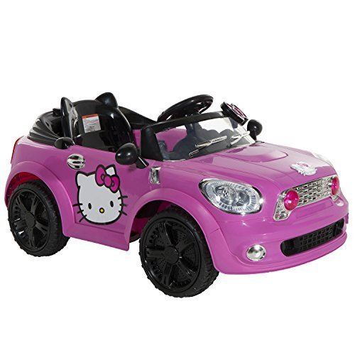 Dynacraft-Hello-Kitty-Coupe-6v-Battery-Powered-Car-Kids-Electric-Ride-on-Car