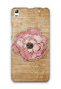 Cover Affair Wood / Flower Printed Back Cover Case for Lenovo K3 Note