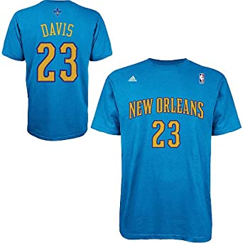 Anthony Davis New Orleans Hornets Adidas Adult Blue Game Time T-Shirt by adidas
