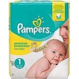Pampers, Pannolini Premium Protection New Baby, misura 1 (2 - 5 kg), confezione da 72 pannolini