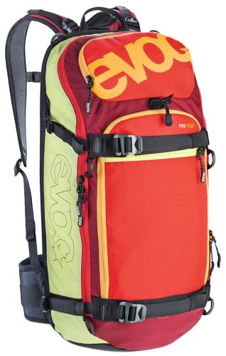 EVOC Protektor Rucksack Fr Pro Team, Lime-Red-Ruby, 52 x 27 x 14 cm, 4203-237