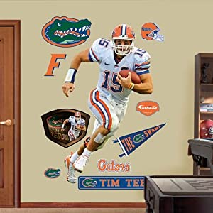NCAA Florida Gators Tim Tebow Wall Graphic, White by Fathead