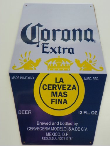 Corona Extra Metal Beer Sign 18″ x 12.4″ Barware Decor