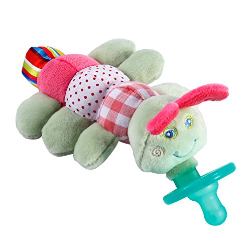 Infant Pacifier Caterpillar,YKS Infant Pacifier Toy Baby Plush Toy Plush Pacifier Animal Handbells Rattles Handle Toys for Newborns