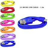 Sleek Gadgets - Blue Micro USB Cable 2.0 for Samsung Chat S3350