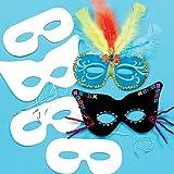 Lot de 12 Masques à personnaliser - Idéal pour le Carnaval...