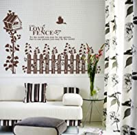 Tree Bird Fence Removable Wall Vinyl Sticker Decals Wallpaper LX6901 from Estore Ship From China