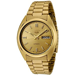 Seiko Men's SNXS80 Series 5 Gold Tone Stainless Steel Bracelet Watch