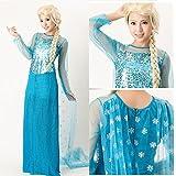 アナと雪の女王 エルサ 風 コスプレ ドレス コスチューム XLサイズ