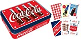 Coca Cola tin containing two packs of playing cards (nm)