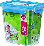 EMSA 508543 Frischhaltedose CLIP & CLOSE rechteckig, 1,60 Liter (100% dicht, gefriergeeignet, mikrowellengeeignet, BPA frei, Made in Germany)