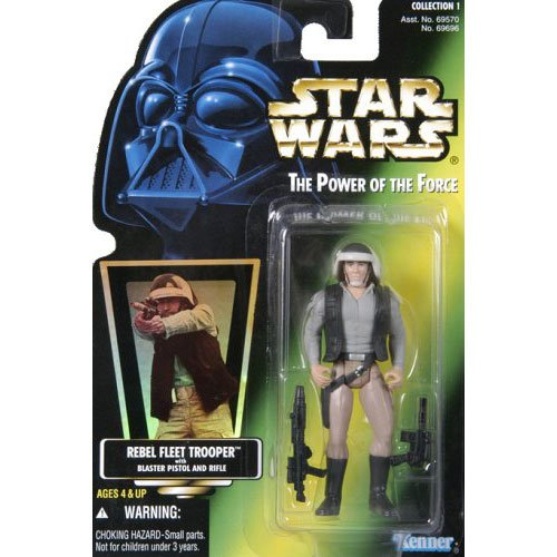 STAR WARS - REBEL FLEET TROOPER with BLASTER PISTOL and RIFLE and FREEZE FRAM...