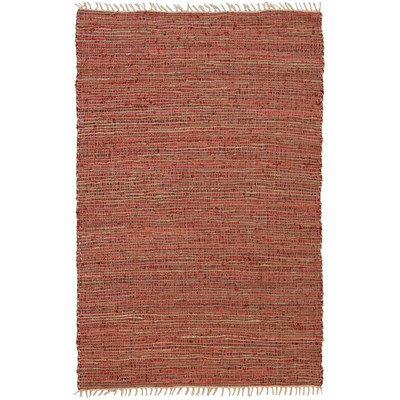 Matador Leather and Hemp Rug, 4 by 6-Feet, Copper
