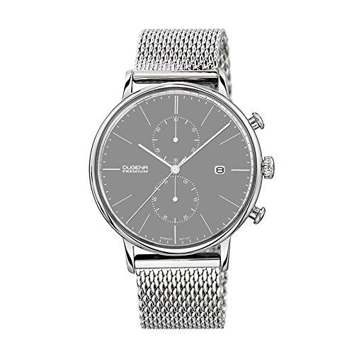 Dugena 7090232 - Reloj unisex, correa de acero inoxidable color plateado
