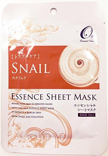 マスクパック オリエンタルビュー エッセンス シート マスク カタツムリ 25g 100枚セット 韓国