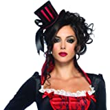 Deluxe Mini Top Hat (Red/Black) Adult