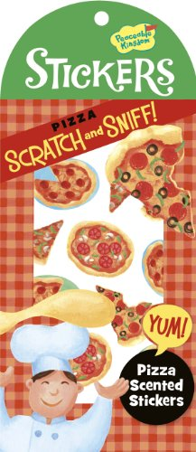 Peaceable Kingdom / Scratch & Sniff Pizza Scented Sticker Pack front-1005311