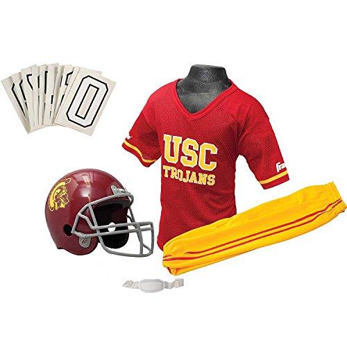 [Franklin Sports NCAA USC Trojans Deluxe Youth Team Uniform Set, Small] (Usc Fan Costume)