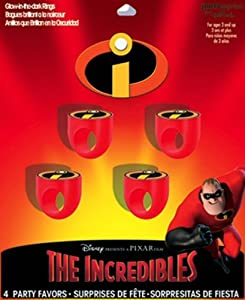The Incredibles Glow-In-The-Dark Rings 4ct