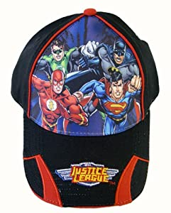 Justice League Boy's Baseball Cap - Justice League Featuring Superman, Batman...