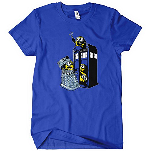 Womens Minion Mischief Tardis T-Shirt Doctor Tee Dr Despicable Who Dalek Minions Me
