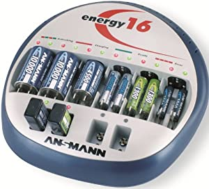 Ansmann 5207123/US Energy 16 Battery Maintenance Universal Desktop Charger