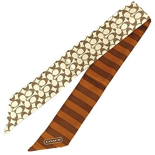 [コーチ] COACH アパレル(スカーフ) F85126 カーキ×サドル シグネチャー ポニーテール スカーフ レディース [アウトレット品] [ブランド] [並行輸入品]