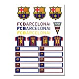 FCBARCELONA FCバルセロナ オフィシャル ステッカーセット(ネームラベル付き)BCN29527